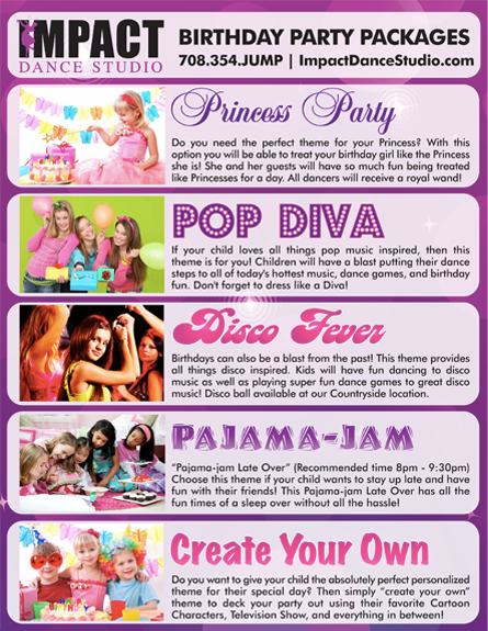 Impact Dance Studio - Birthday Parties for Kids